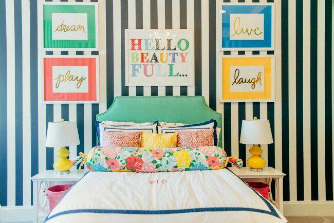 Decoracion de interiores en colores contrastantes curso - Como decorar una habitacion juvenil femenina ...