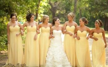 Detalles en color amarillo para bodas