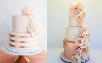 Detalles en oro rosa para bodas