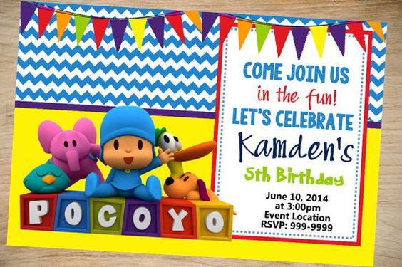 Ideas para decorar fiesta de cumpleaños de Pocoyo (2 ...