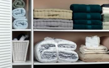 Ideas para organizar toallas de baño
