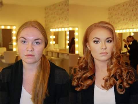 Maquillaje con contorno - antes y despues