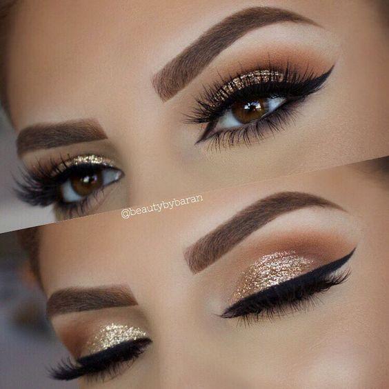 Maquillaje De Ojos Con Glitter 21 Curso De Organizacion Del