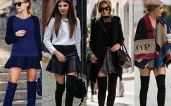 Outfits con botas largas tendencia invierno 2016
