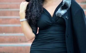 Outfits en negro chicas plus size