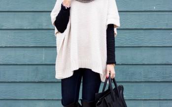 Outfits para invierno con ponchos