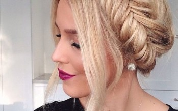 Peinados con corona de trenza