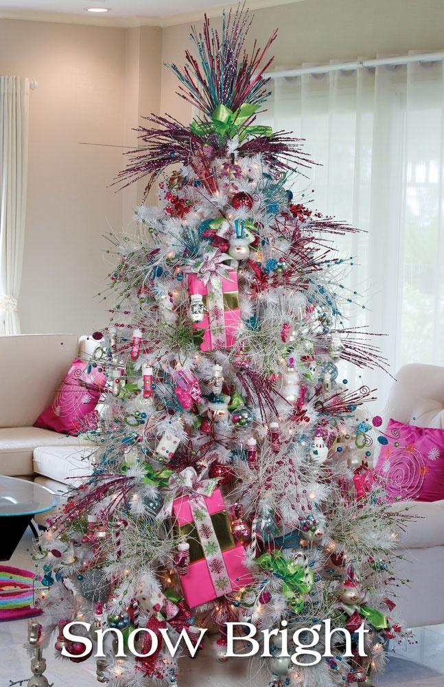 Decoracion de arboles de navidad blancos 2016 - Decoracion de arboles navidenos ...