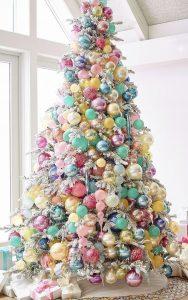 arbol de navidad multicolor