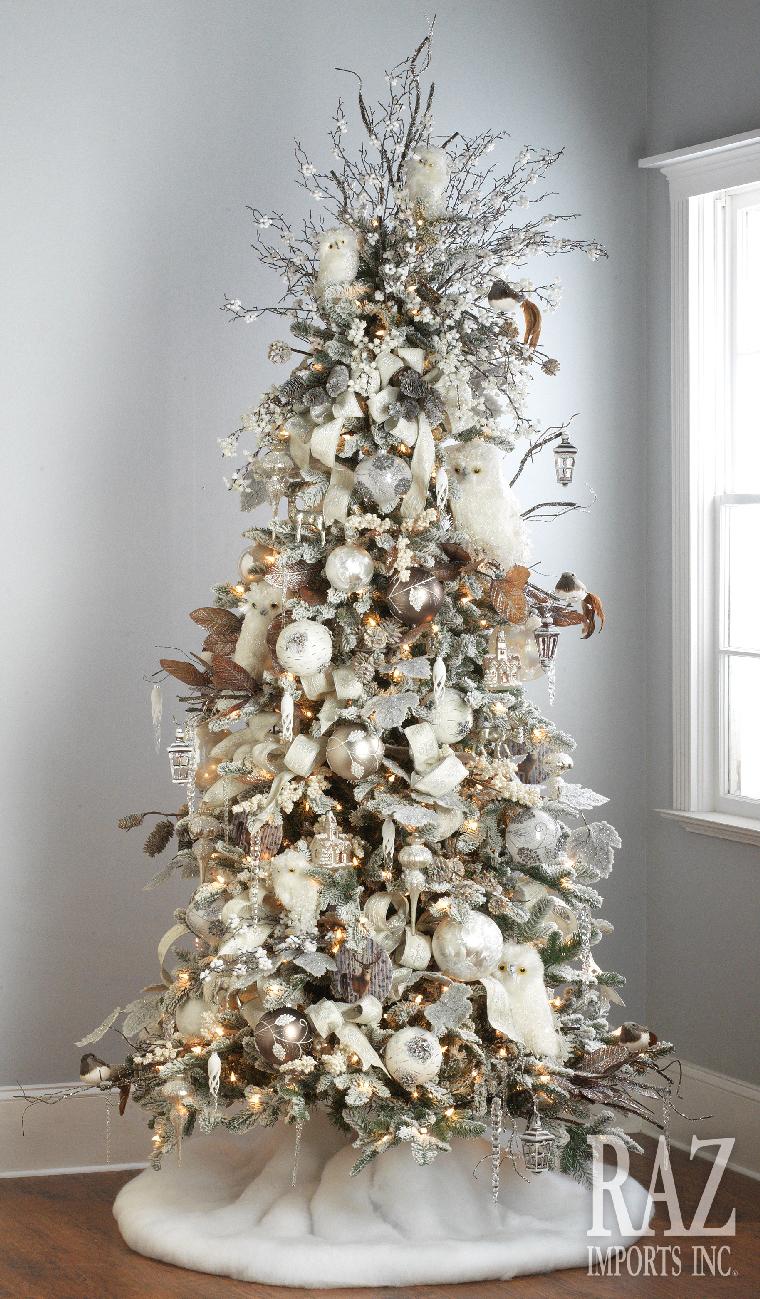 decoracion de arboles de navidad 2017 - 2018 pino nevado