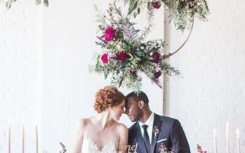 Arreglos colgantes para bodas