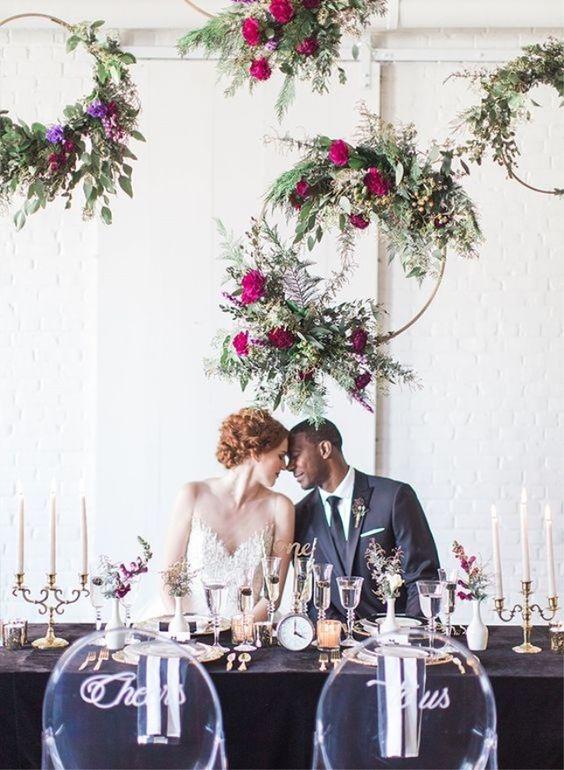 Arreglos colgantes para bodas Curso de Organizacion del hogar y