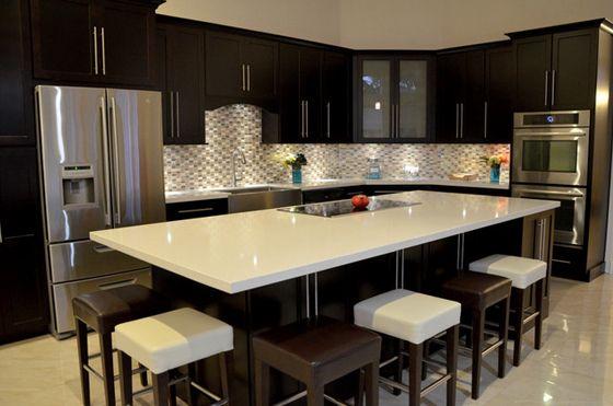 Cocinas modernas 34 curso de organizacion del hogar y for Comedores para cocinas pequenas