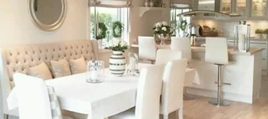 Comedores en tonos claros – para ampliar tus espacios