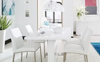 Decoracion de comedores en color blanco