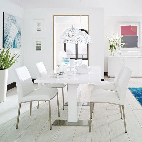 Decoracion de comedores en color blanco - Curso de Organizacion del ...