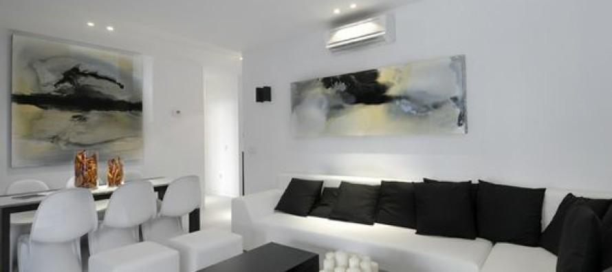 Decoracion de salas en color blanco