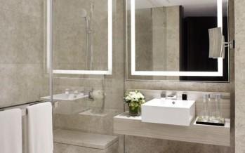 Diseños de baños con separador de cristal