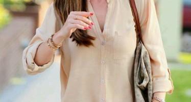 Hermosos atuendos con blusas color nude