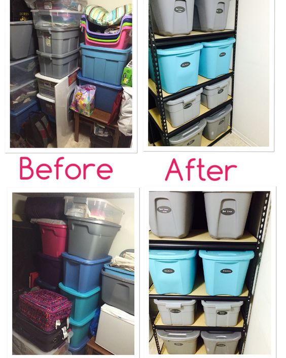 Ideas para organizar tu closet antes y despues 9 for Banos pequenos antes y despues