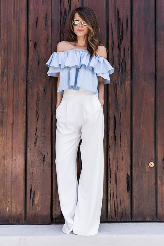 Looks con pantalon blanco - ideal para verano