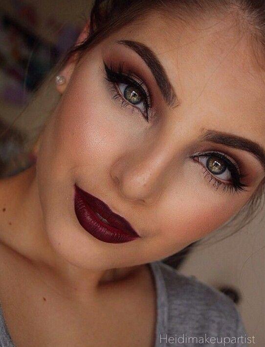 Maquillaje Con Labios Color Vino 24 Curso De