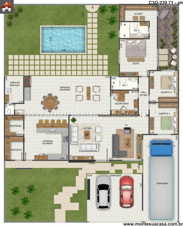 Planos y dise os de casa y jardin 16 curso de for Casas planos y disenos