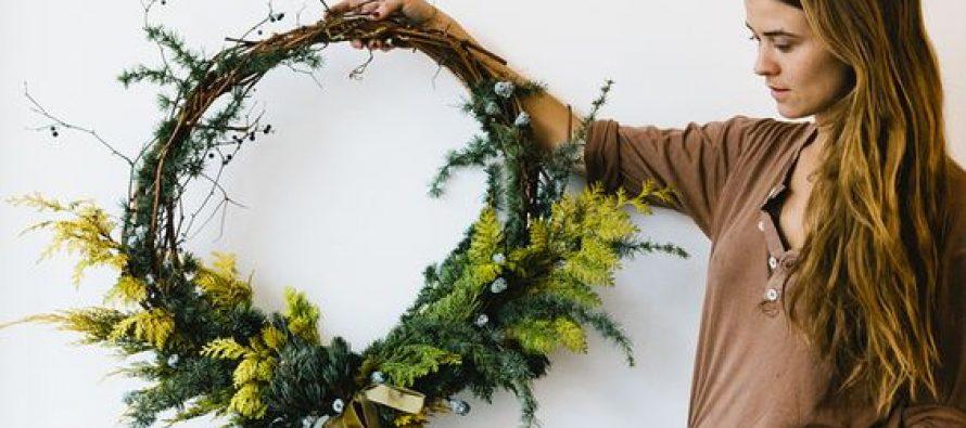 Coronas naturales para decoración navideña