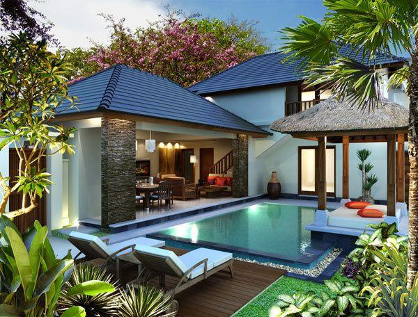 Fachadas de casa con alberca curso de organizacion del for Bali style home designs