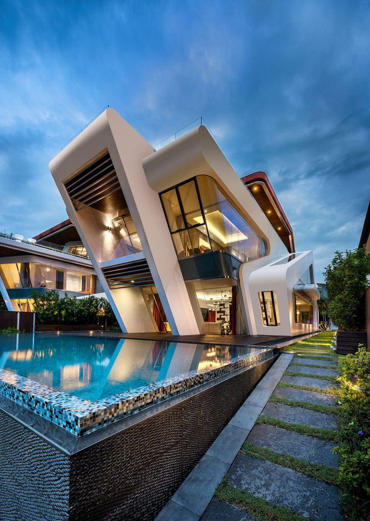Fachadas de casa con alberca 4 curso de organizacion for Casas modernas con alberca