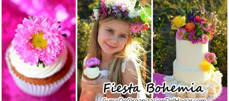 Fiesta de cumpleaños bohemia floral