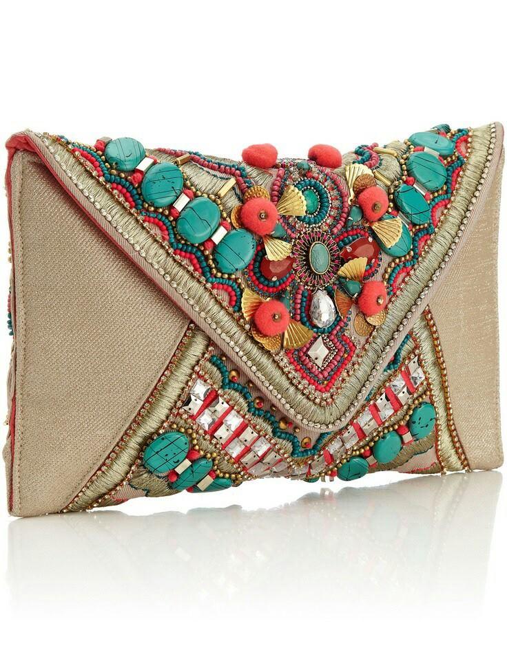 Hermosa de bolsos bordados en 2 mano tendencia SwRrSqp