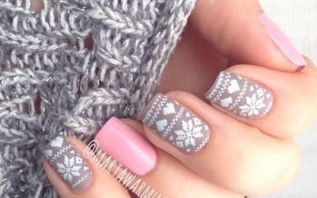 Hermosos diseños de uñas para navidad