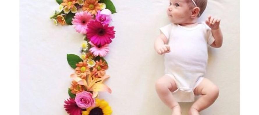 Ideas de sesion de fotos a bebés – mes a mes