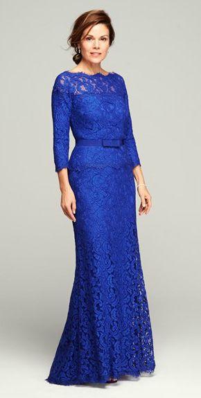 vestidos para señoras de 60 años elegantes