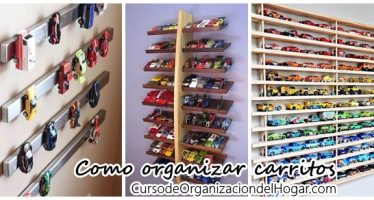 Como organizar carritos de juguete y decorar al mismo tiempo