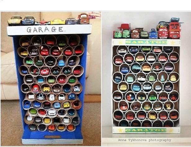 Toy Cars Holder Shelf : Como organizar carritos de juguete y decorar al mismo