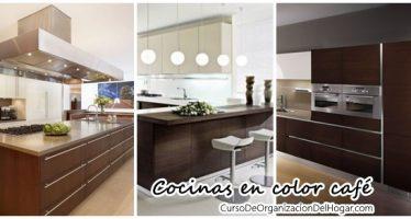 Decoración de cocinas en color café