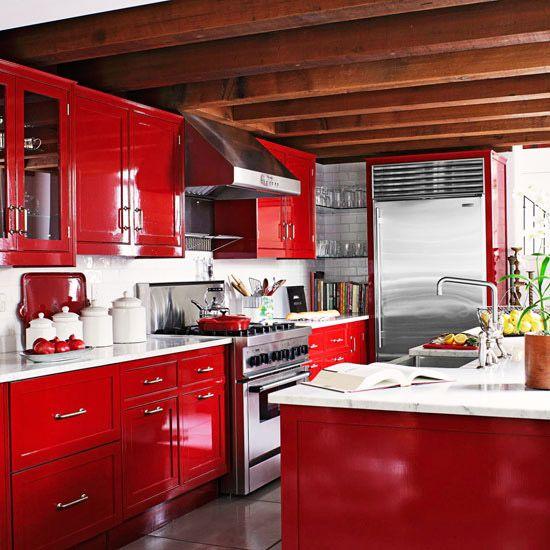 Decoracion de interiores cocinas en color rojo 18 curso - Cocinas en rojo ...