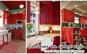 Decoración de interiores – cocinas en color rojo