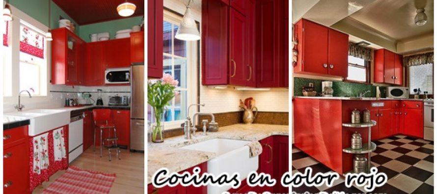 Decoraci n de interiores cocinas en color rojo curso de organizacion del hogar - Decoracion de interiores cursos ...