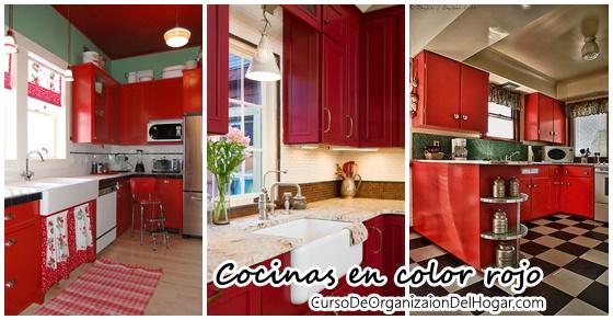 Decoracion De Interiores Cocinas En Color Rojo Curso De - Cocinas-color-rojo