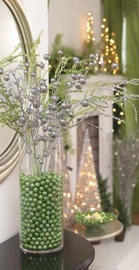 Decoracion de navidad en tono verde 9 curso de for Decoracion hogar verde