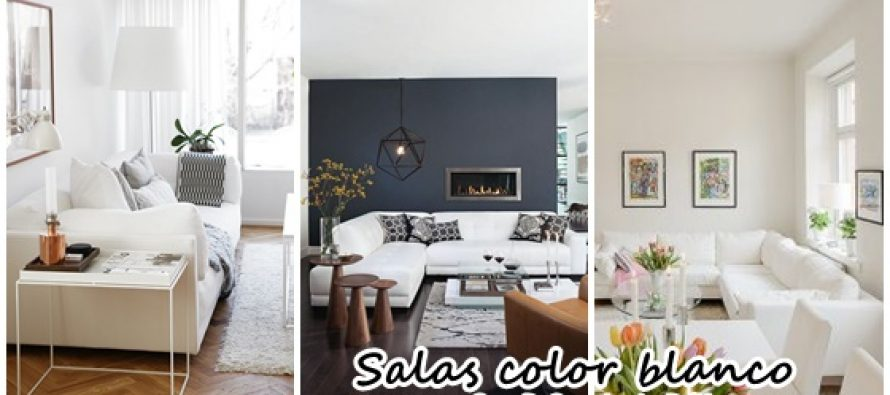Decoración de salas de estar en color blanco