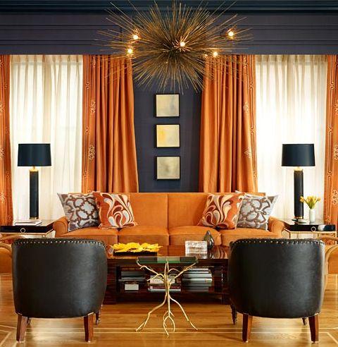 Decoracion de salas de estar en color naranja 13 curso for Decoracion hogar naranja