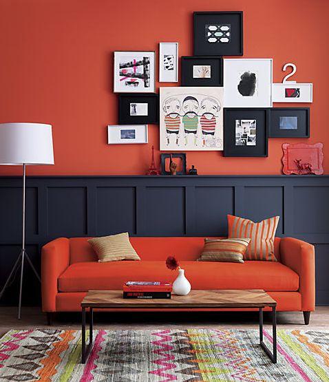 Decoracion de salas de estar en color naranja 19 curso for Decoracion hogar naranja