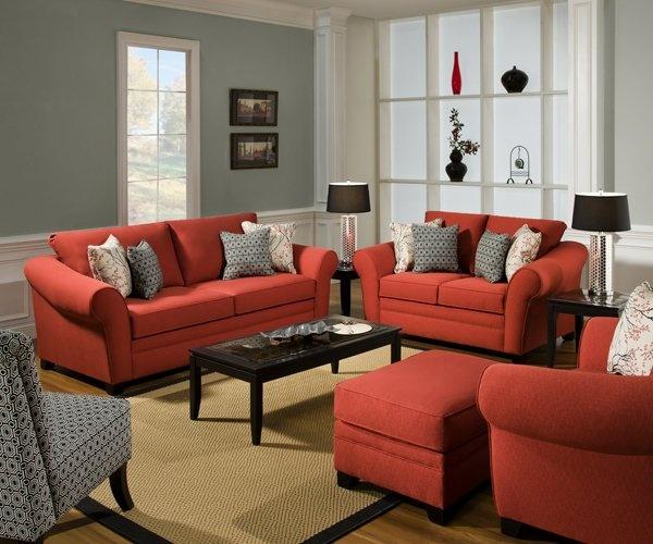 Decoracion de salas de estar en color naranja 2 Curso De