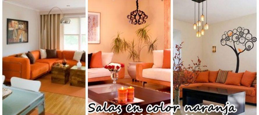 Decoraci n de salas de estar en color naranja curso de for Colores para salas 2016