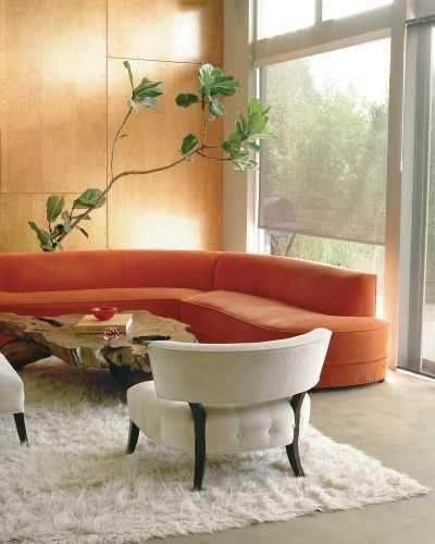 Decoración de salas de estar en color naranja - Curso de ...