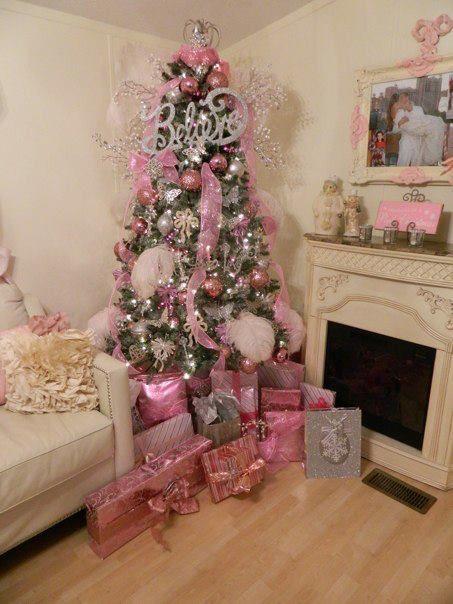 Decoraci n navide a color rosa curso de organizacion del hogar y decoracion de interiores - Arboles de navidad rosa ...